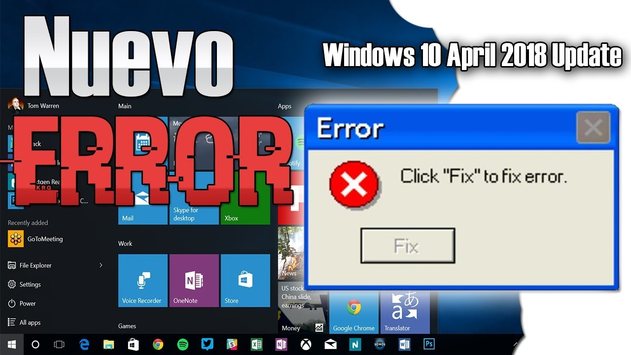 Reparación Error Actualización Windows 10